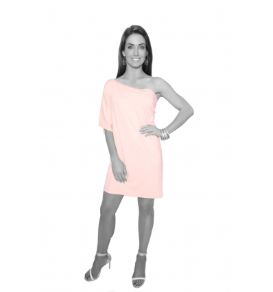 Peach One Shoulder Tunic