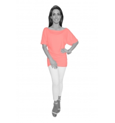 Light Coral Tunic Top