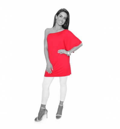 Red One Shoulder Tunic